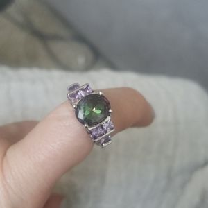Sterling silver ring size 7. Real stones